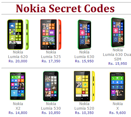 Nokia Secret Codes of 2016