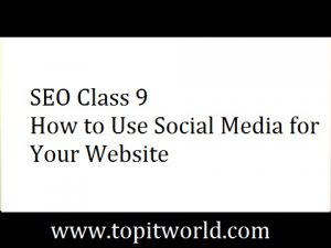 SEO Class 9 – How to Use Social Media for your Website