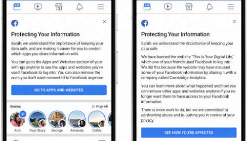 Now Facebook will Tell You that your data was shared with Cambridge Analytica