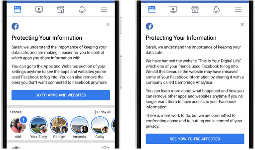 Facebook will Tell You that your data was shared with Cambridge Analytica