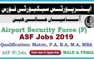 2380 Jobs in Airport Security Force ASF Jobs April 2019 for Matric and Intermediate
