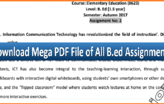 Download AIOU B.ed All Codes Assignments in a Single PDF File – Topitworld