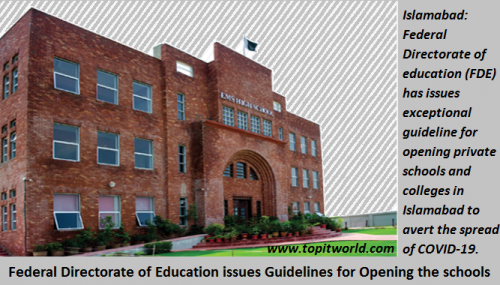 Federal Directorate of Education issues Guidelines for Opening the schools
