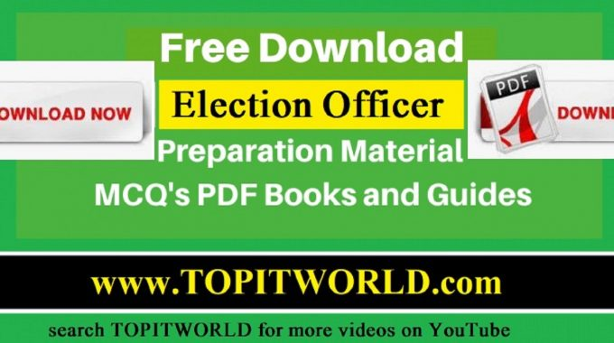 Free Download PDF Books for Election Officer Jobs