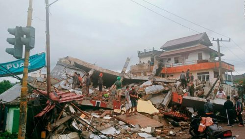 Indonesia Earthquake killed Dozen of Lives, More than 10000 Injuries
