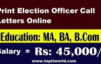 Print Election Officer Call Letters Online 2021