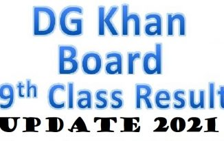 BISE DG Khan 9th Class Result 2021