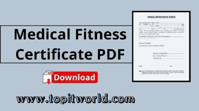 Medical Fitness Certificate for Different Private and Government Jobs