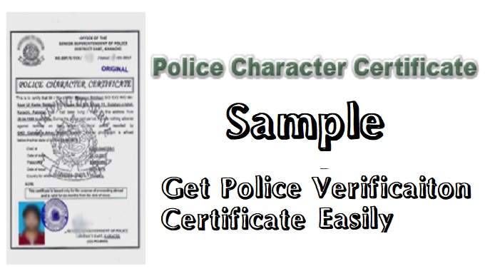 Police Character Certificate Sample Application Form for Government Jobs