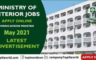 Ministry of Interior Job Vacancies May 2021