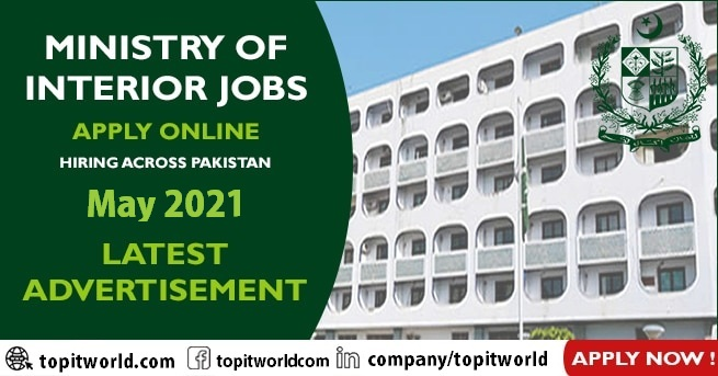 Ministry of Interior Job Vacancies May 2021