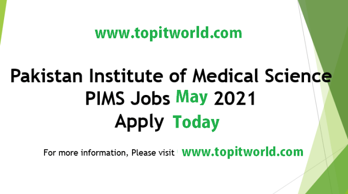 PIMS Hospital 135 Jobs Vacancies 2021